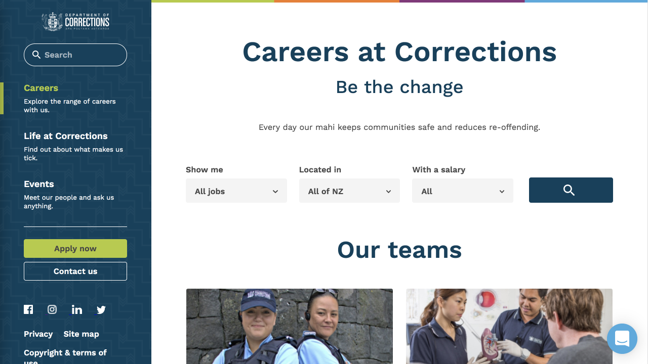 Careers at Corrections (Stanley St)