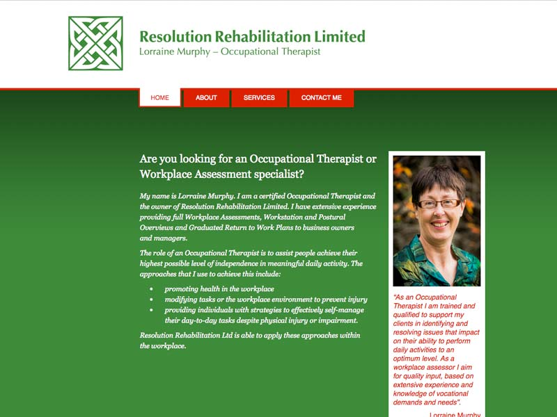 Lorraine Murphy is an experienced Occupational Therapist.  (mhdesign)