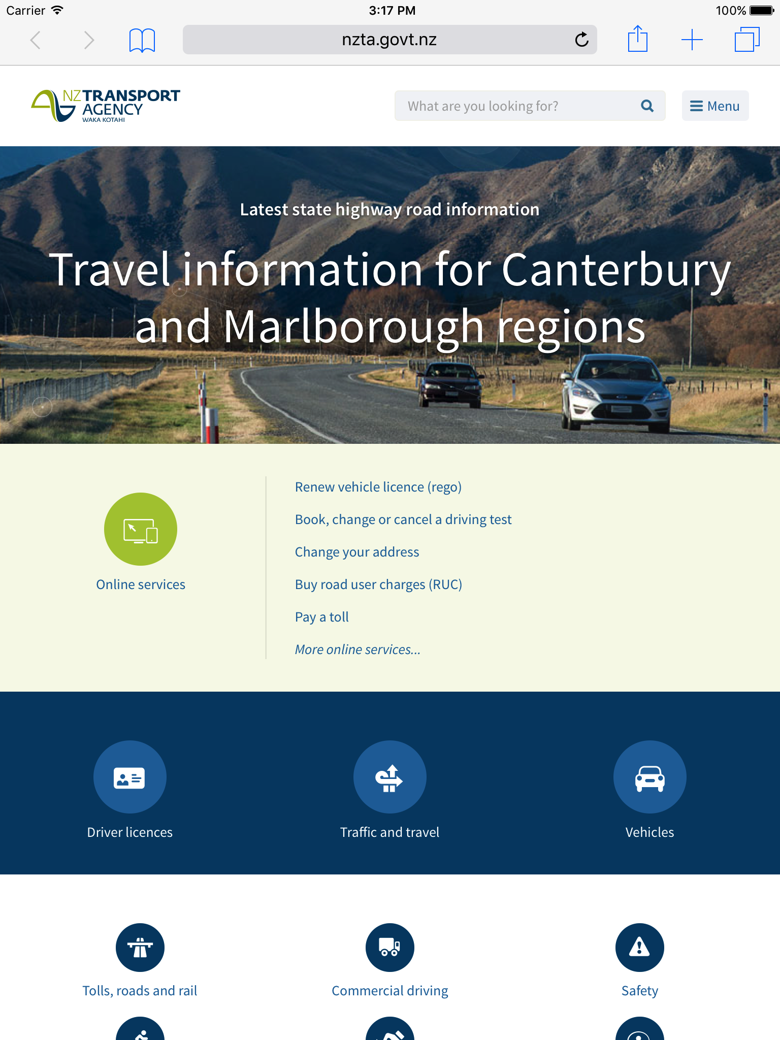 The NZ Transport Agency (SilverStripe)