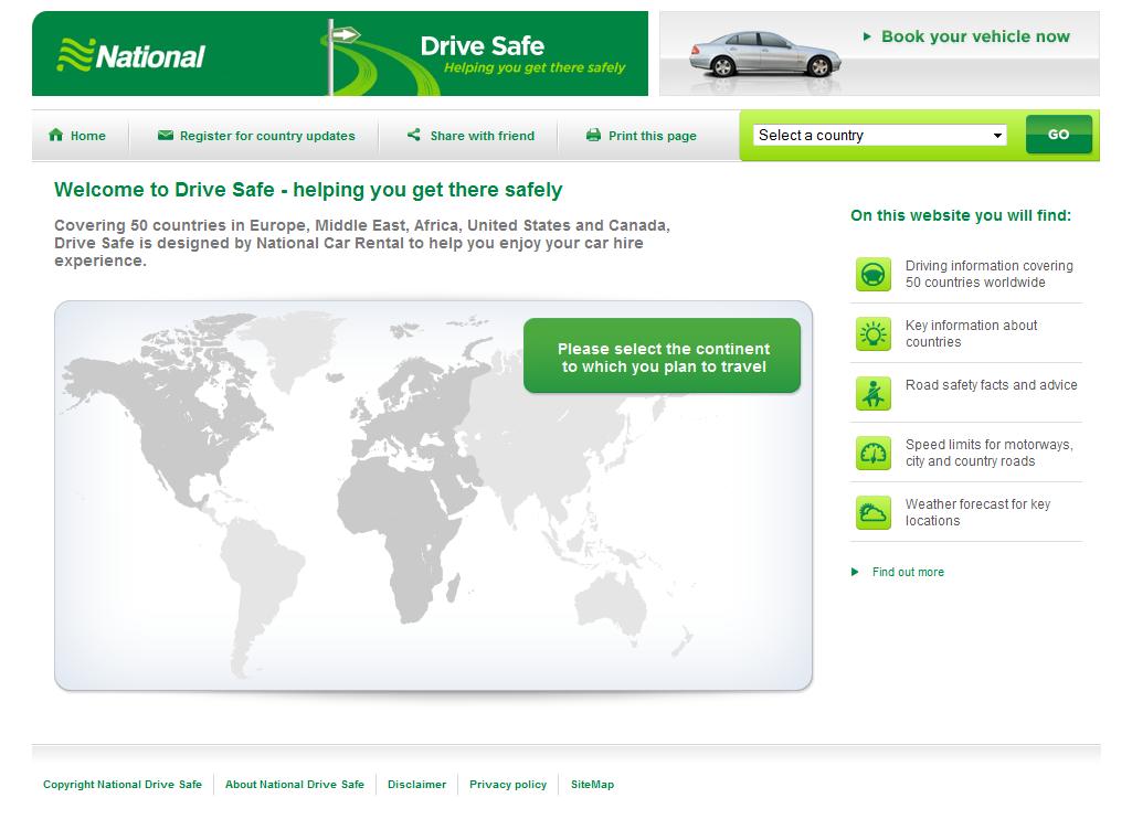 Silverstripe Community Showcase National Car Rental Drive Safe