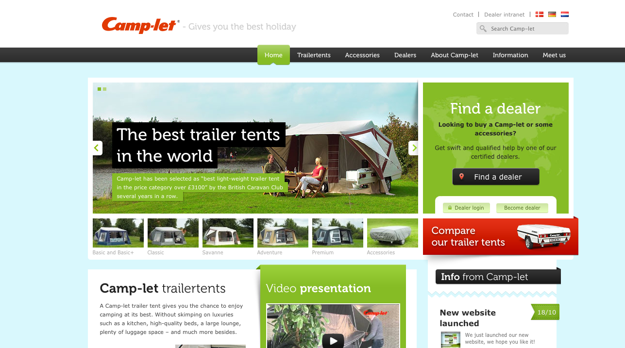 Camp-let - Gives you the best holiday (Nobrainer Web)