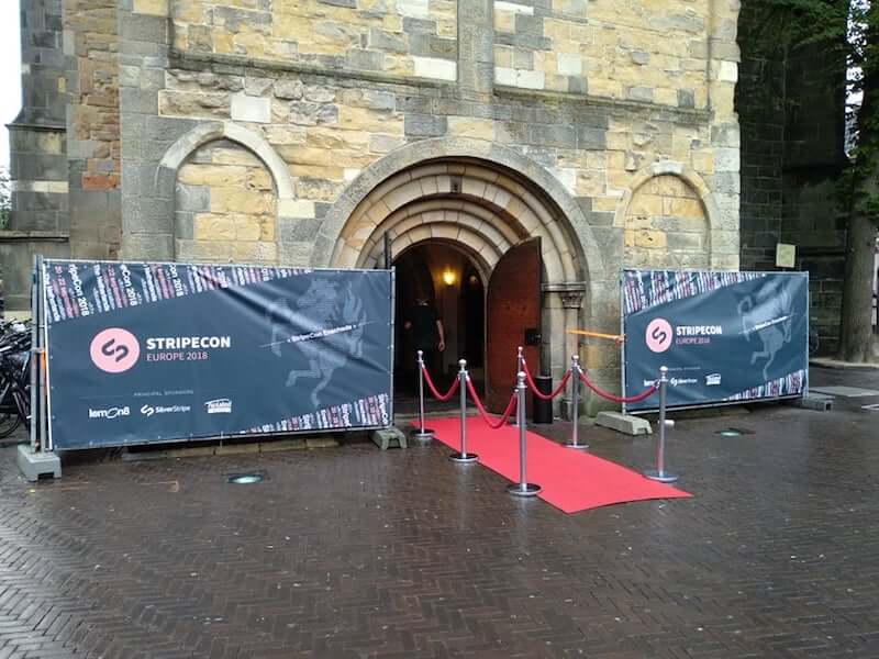 A red carpet welcoming to StripeCon EU in Enschede