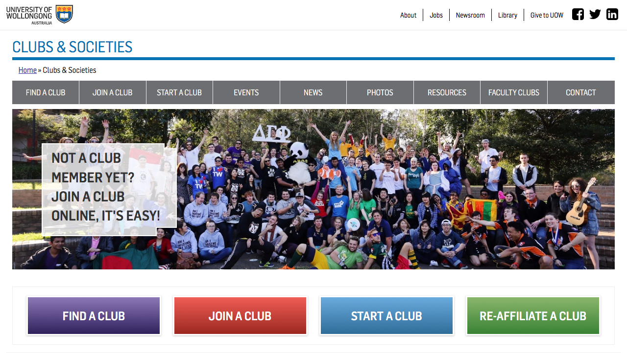 University Of Wollongong - Clubs and Societies (Internetrix)