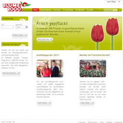 Company's website Blume 2000 2010-09-08