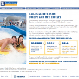 Royal Caribbean Landing Pages 2009-04-01