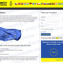 Amnesty International - European petition website 1110-05-20