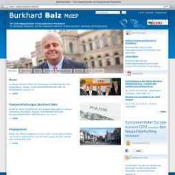 Burkhard Balz - Official Site of the EU Politician 2009-10-01