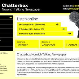 Chatterbox Norwich Talking Newspaper 2013-10-26