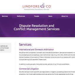 Lindfors & Co attorneys 2011-09-14