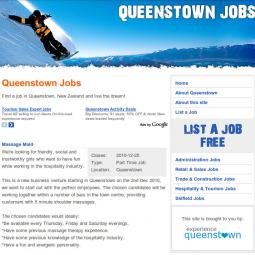 Queenstown Jobs 2010-10-10