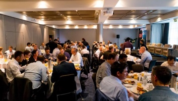 Conference eating breakfast image
