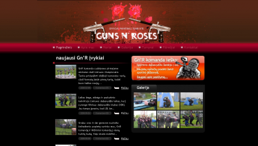 Guns N` roses (GNR) official paintball team websit