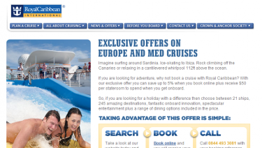 Royal Caribbean Landing Pages