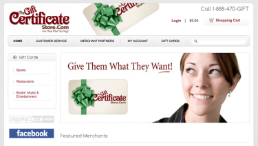 The Gift Certificate Store