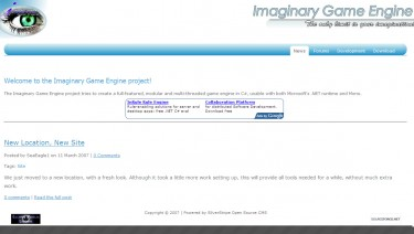 Imaginary Game Engine