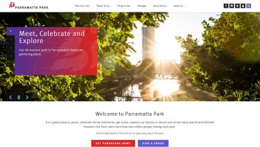 Parramatta Park Website Upgrade