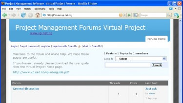 Project Management Forums -Virtual Project