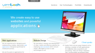 Vimtech Ltd company website