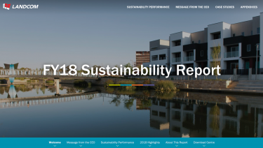 Landcom 2018 Sustainability Report