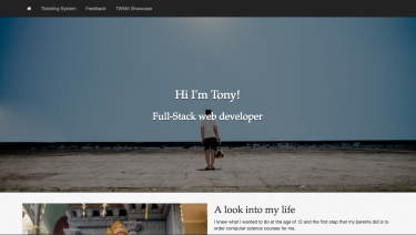 Full-Stack Web Developer Tony Ait