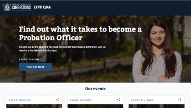 Corrections Live Q&A Website