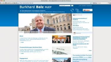 Burkhard Balz - Official Site of the EU Politician