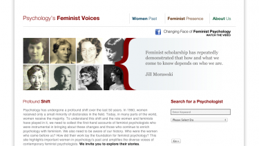 Psychology's Feminist Voices