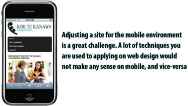 Kiri Te Kanawa Foundation Mobile Website