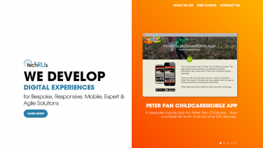 TechRUs - WE DEVELOP DIGITAL EXPERIENCES for Bespoke, Responsive, Mobile, Expert & Agile Solutions