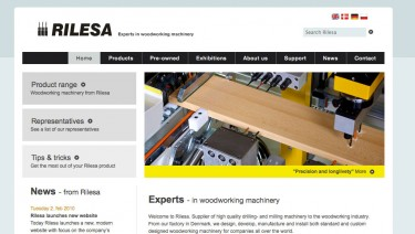 Expert in woodworking machinery - Rilesa.com