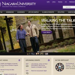 Niagara University Website 2009-07-23