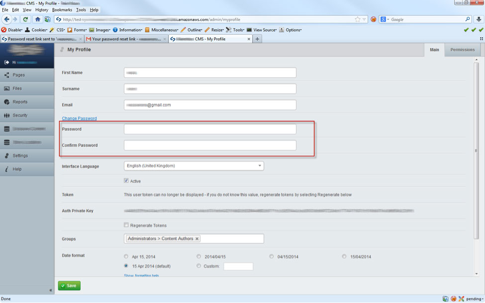 how to change origin password without security question