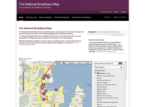 National Broadband Map (SilverStripe)