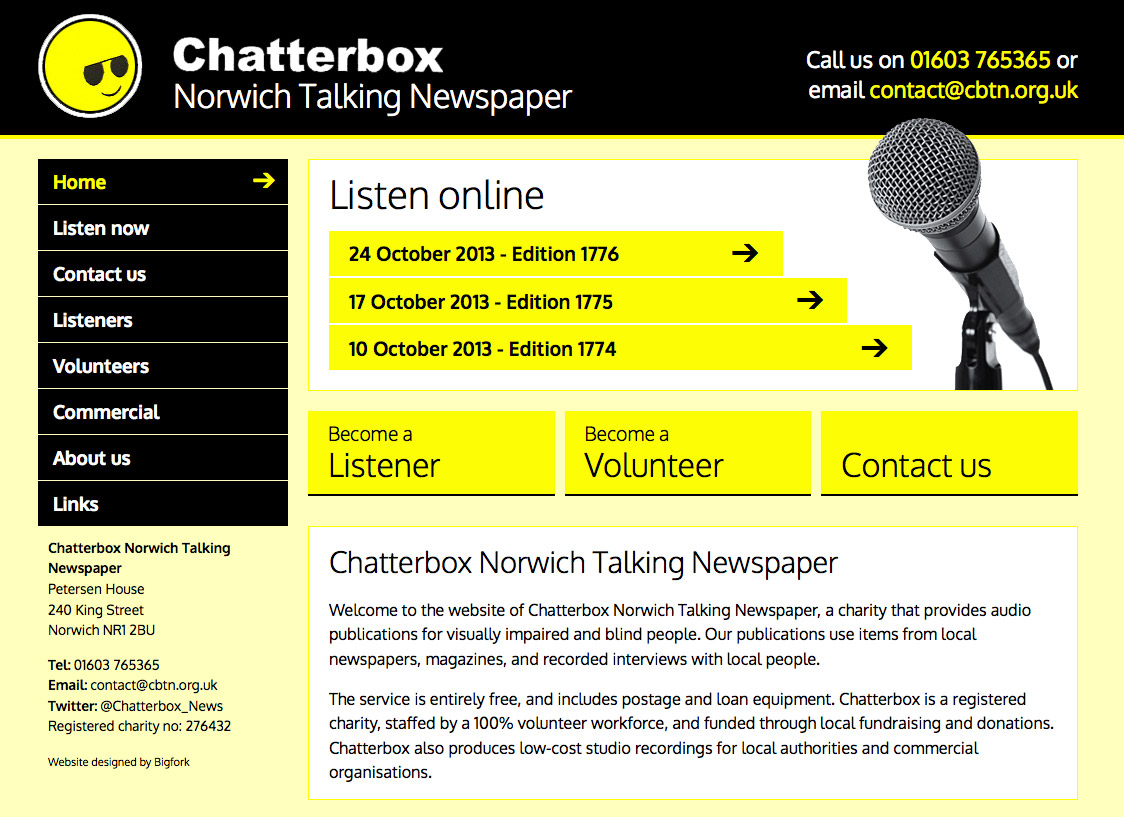 Chatterbox Norwich Talking Newspaper (Bigfork)