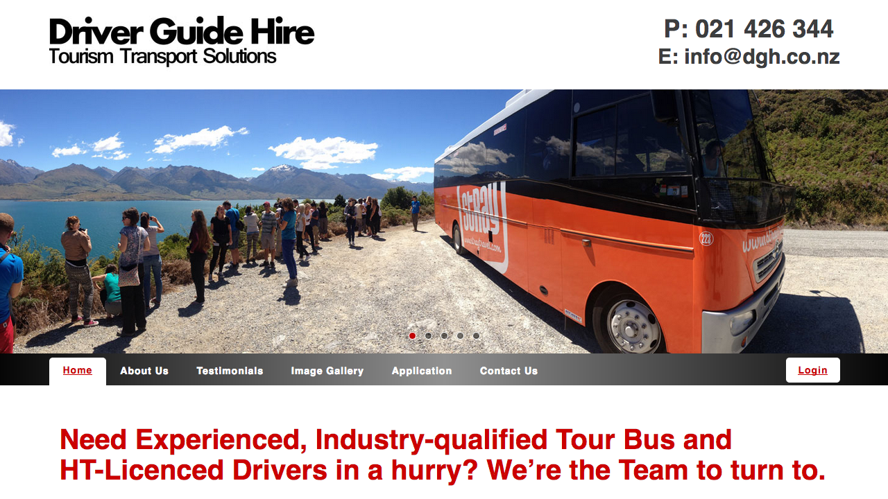 'Living the Dream' with Driver Guide Hire! (mhdesign)