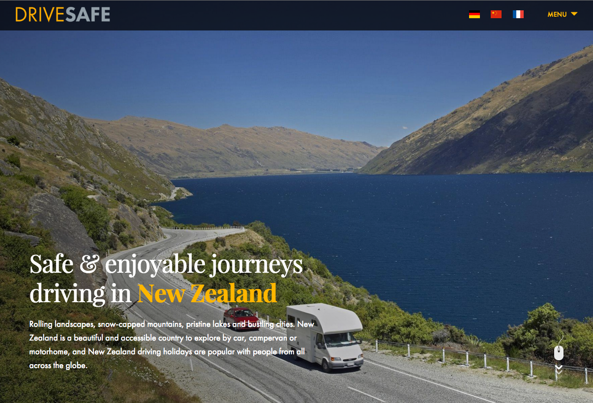 Helping the world DriveSafe in New Zealand (TimeZoneOne)