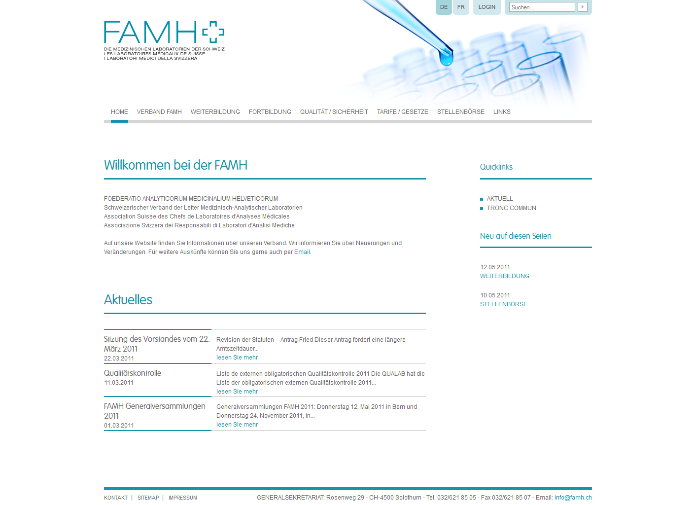 FAMH  - The medical labratories of switzerland (rico)