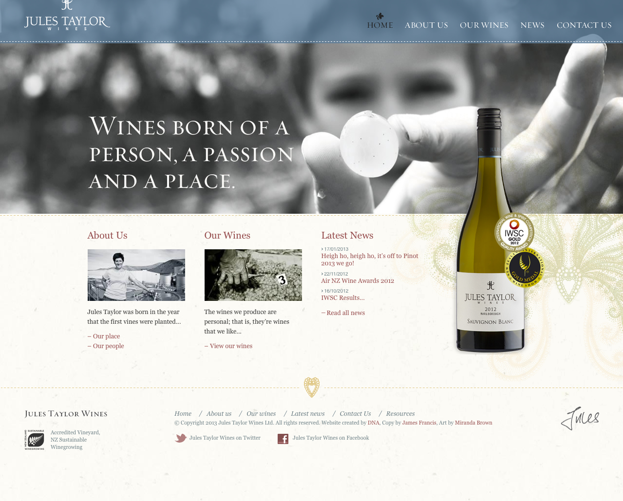 Jules Taylor Wines (DNA)