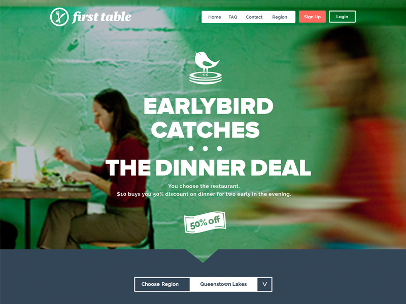 First Table - Earlybird Dinner Deals (Mat Weir)