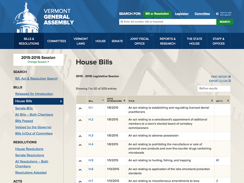 Vermont General Assembly (VickySmith)